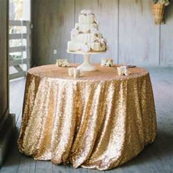 sequin tablecloth gold silver chagne ivory gold