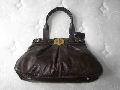 Rur20225 Tas Fashion Import Tote Lv Brown new coach ltd ed brown leather lg garnet turnlock tote bag