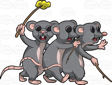 Three Blind Mouse three blind mice clipart vector