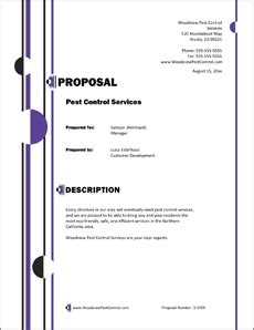 Grazexforlast Pest Control Proposal Template Pest Bid Template