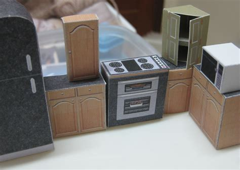 paper dolls house furniture template paper kitchen