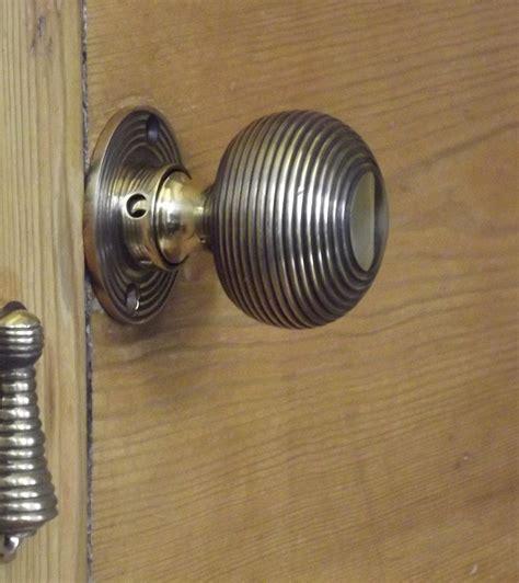 Beehive Door Knob by Period Solid Brass Reeded Beehive Door Knob