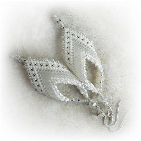 leaves white earrings white on white leaf earrings s fancy