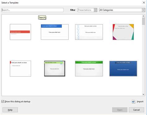 Template Selector Libreoffice Impress Impress Template