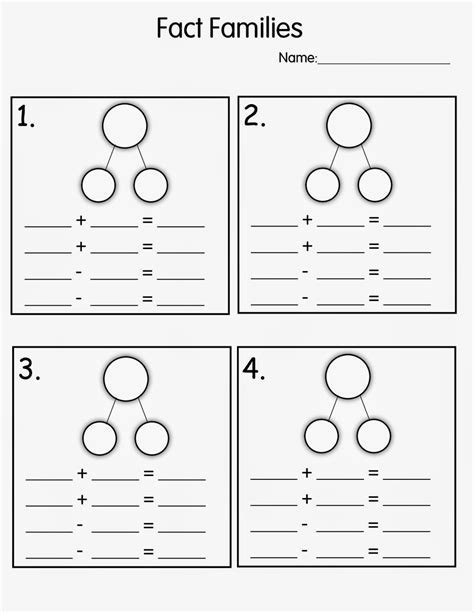 Fact Family Worksheets Kindergarten