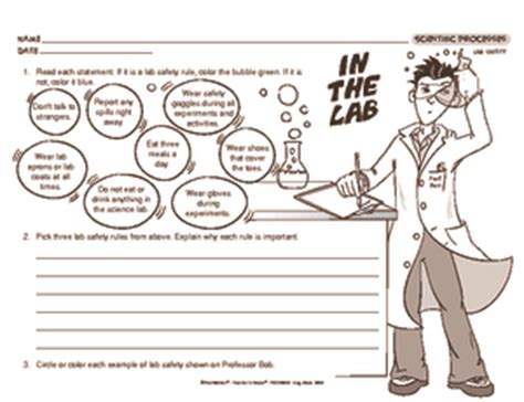Science Lab Safety Worksheet by Results For All Products Science 4 Guest The Mailbox