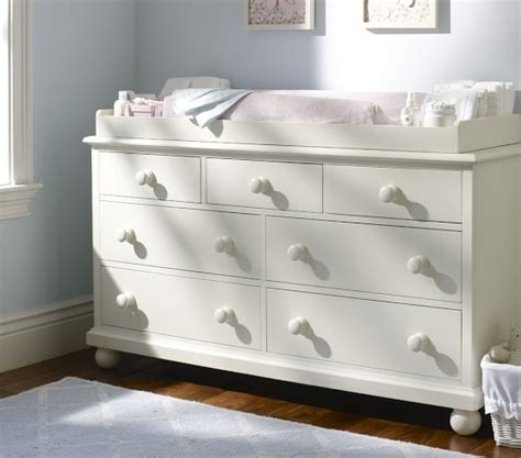 baby changing table dresser uk catalina extra wide dresser topper set pottery barn kids