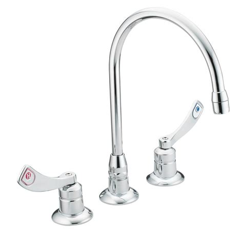 moen chrome kitchen faucet moen m dura 8 in widespread 2 handle high arc bathroom faucet in chrome 8225 the home depot
