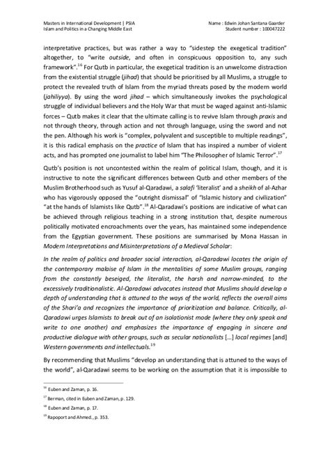 research paper on islam gaarder e islam and politics research paper