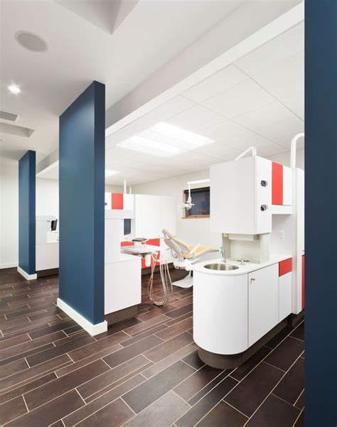 color blocking dentistry and floors on