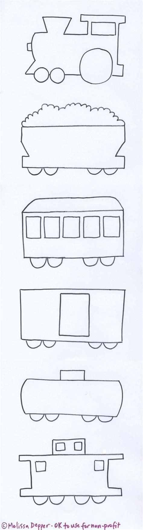 molde de un tren y sus diferentes vagones train and