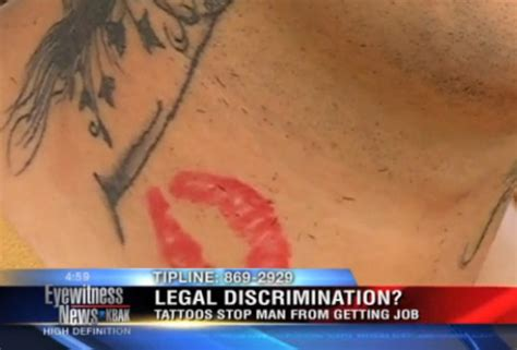 tattoo discrimination confused can t get blames terrible neck tattoos