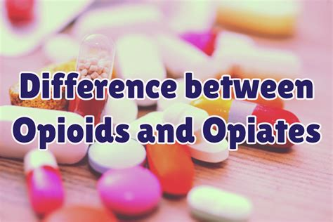 Opioid Detox Near Me by The Difference Between Opioids And Opiates