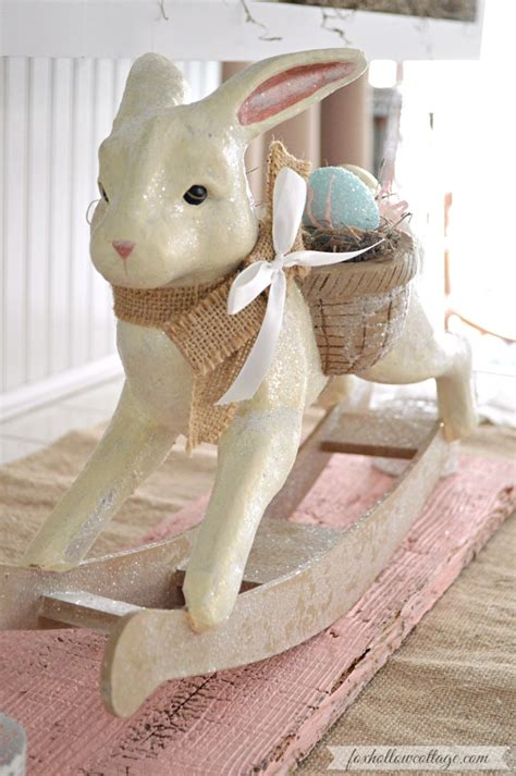 paper mache ideas for home decor spring at the cottage decorating with vintage easter
