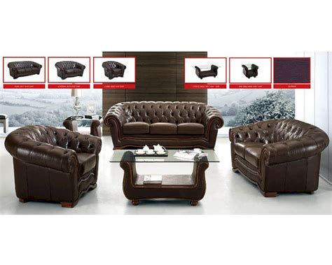 european sofa set european design sofa set in brown finish 33ss61
