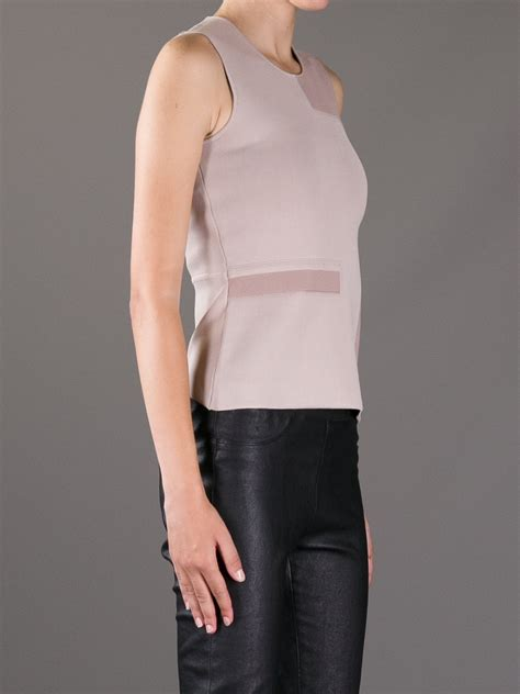 lyst wang two tone sleeveless top in white