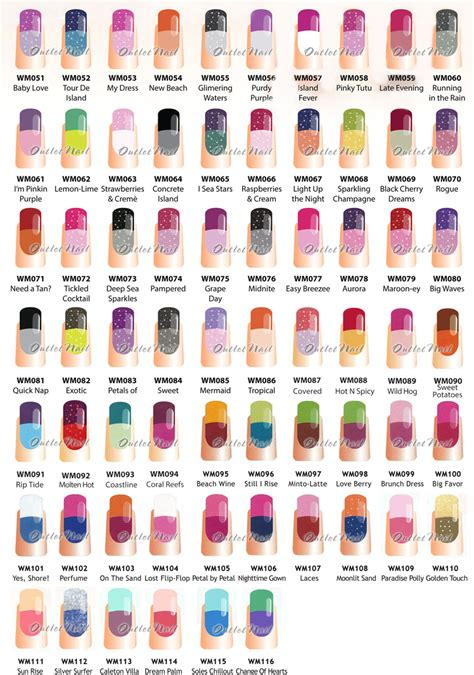 mood color chart wavegel mood part a change gel more 66 colors