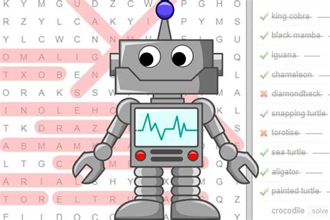 printable robot word search science word search games science with kids com