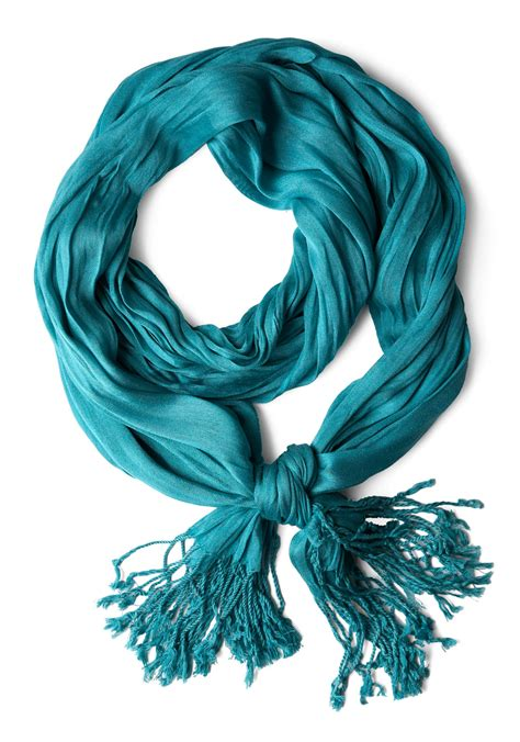 crinkle in time scarf in teal mod retro vintage scarves