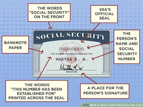 social security card template font 3 ways to spot a social security card wikihow