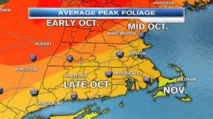 Fall Foliage Map New England by When Is Peak Fall Foliage Around New England Necn