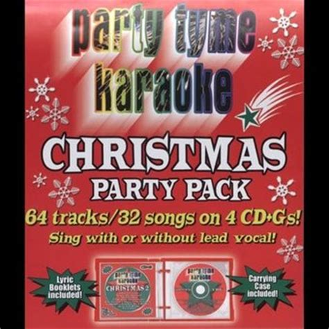 party tyme karaoke christmas party pack 4 cd 2005