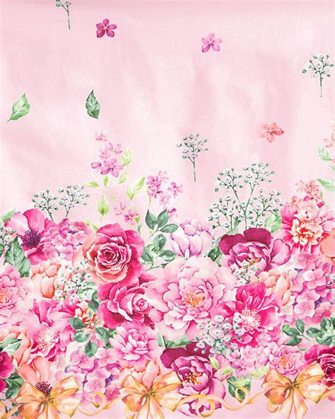 Floral In Pink pink floral border swing dress vintage inspired