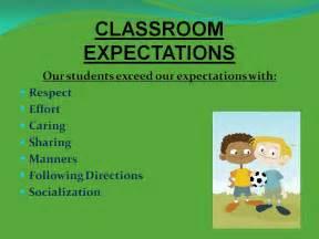 special education skills classroom expectations