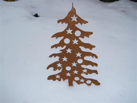 weihnachtsbaum mit kugeln 1 56 gro 223 aus corten edelrost