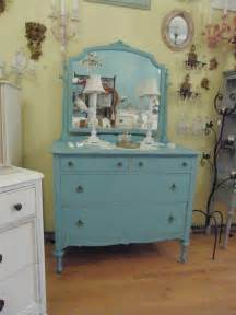 Vintage Bedroom Dressers Antique Dresser Aqua Turquoise Blue Shabby Chic Distressed