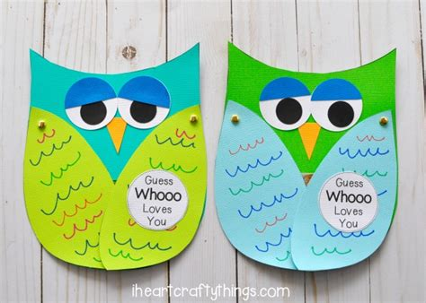 owl card template guess whooo you s day craft i