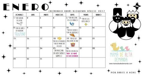 Calendario Mes De Enero 2017 Calendario Mam 225 S Blogueras M 233 Xico 2017 Enero
