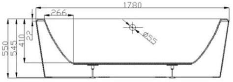 hauteur robinetterie baignoire baignoire ilot design copenhagen en acrylique marque