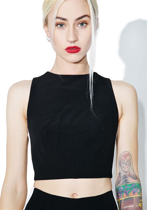 Best Quality Blouse Keylie kendall track stripe crop top dolls kill