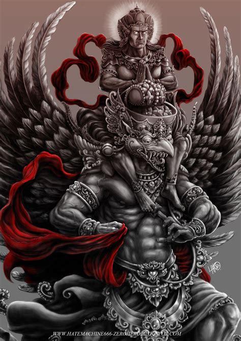 vishnu tattoo garuda vishnu krodha by hatemachine666 spiritual