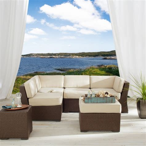 all weather wicker sectional strathwood all weather wicker sectional patio furniture
