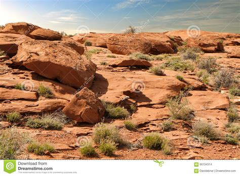 Landscape Rock High Desert Rock Desert Background Hi Res Stock Photo Image