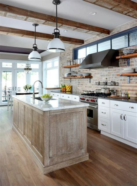 exposed brick kitchen cultivate com home is where you