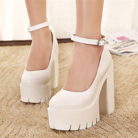 thick heel high heels white thick heel shoes heels zone