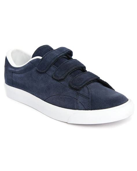nike tennis classic ac velcro blue sneakers in blue for