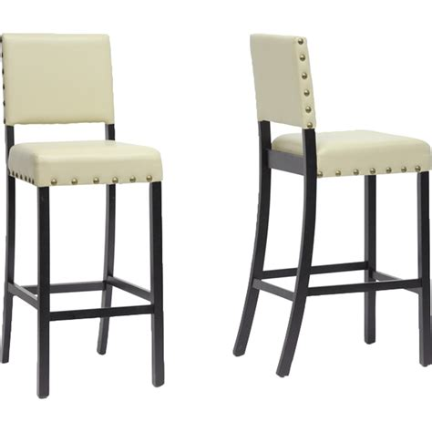 Black Nailhead Bar Stools by Walter Nailhead Bar Stool Black Set Of 2 Dcg