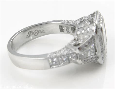 Vintage GIA 5.21ct Radiant Cut Diamond Engagement Platinum