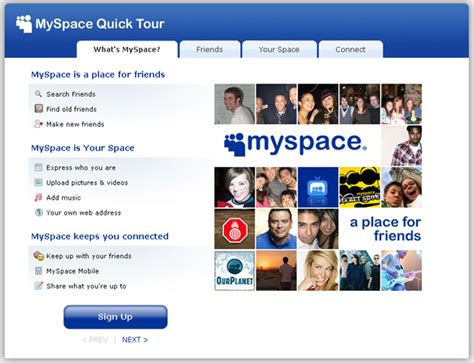 do you go to myspace for friends or content