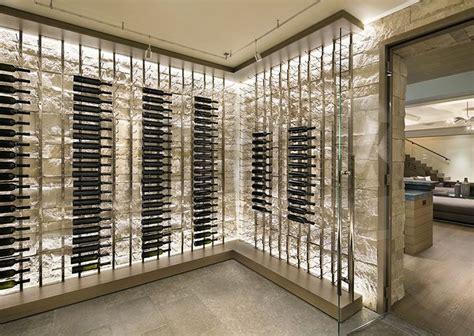 glass door wine storage contemporary minimal wine storage residential arcanum
