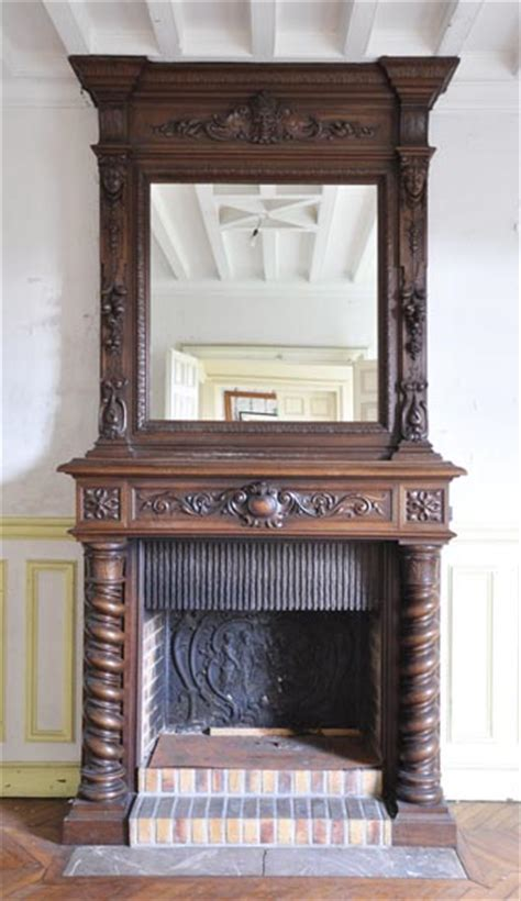 antique walnut fireplace with grotesques fireplace mantels wood