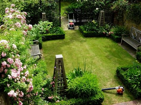 reihenhausgarten anlegen ideen gartengestaltung
