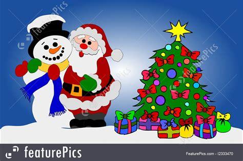 santa clause  snowman illustration
