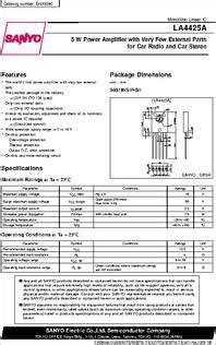 la datasheet   power amplifier