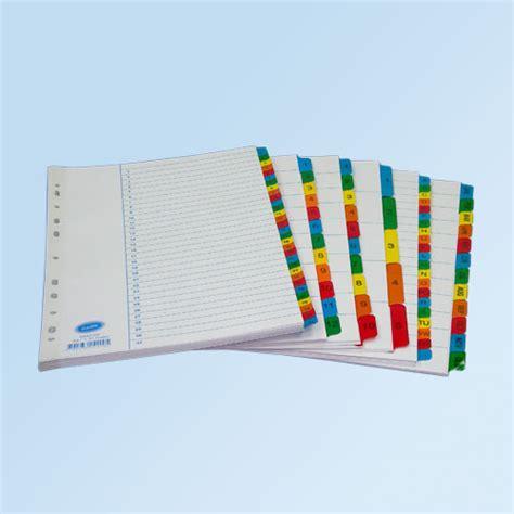 Binder Merk Bantex A4 harga divider a4 merk bantex 5 cut colours