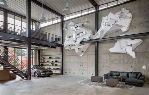 contemporary industrial house features  expressive